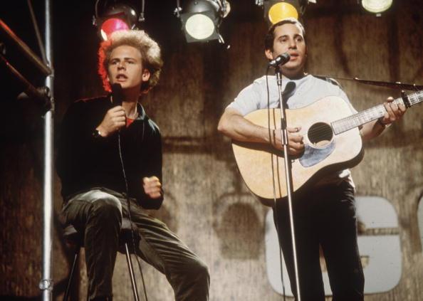 Pop duo Simon and Garfunkel, comprising (L-R) singer, Art Garfunkel and singer-songwriter, Paul Simon in 1966