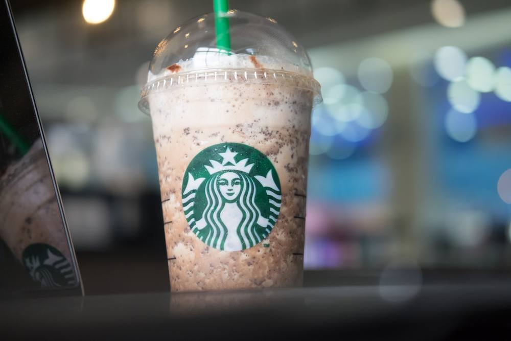 Starbucks Frappuccinos are blended drinks