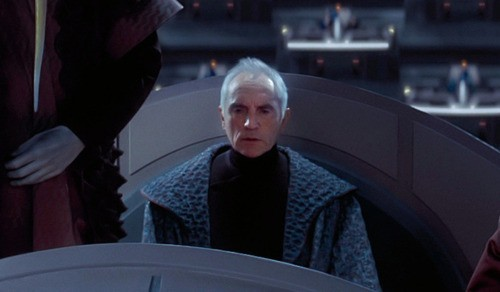 "Terence Stamp in ""Star Wars: Episode I – The Phantom Menace"""
