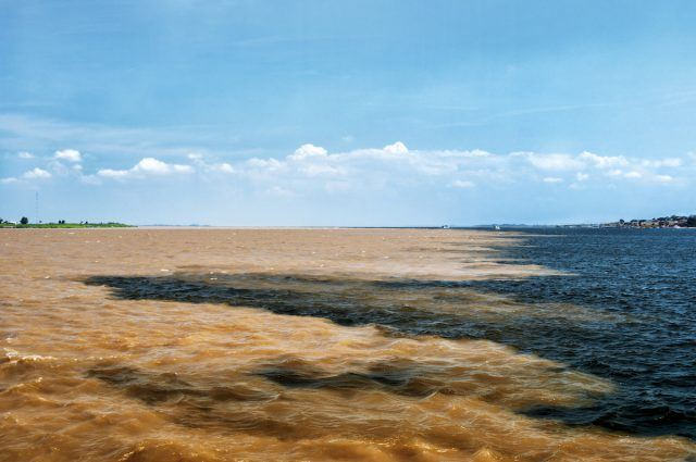 The meeting of waters in Brazil