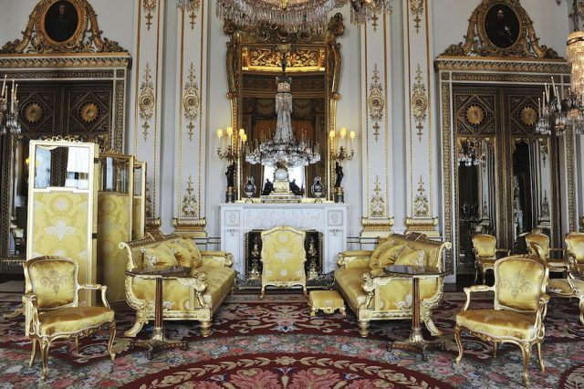 The White Drawing Room at Buckingham Palace
