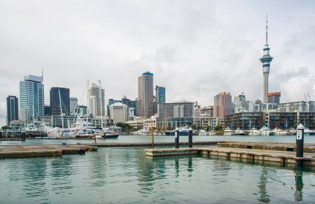 Viaduct Harbour in the central of Auckland, New Zealand