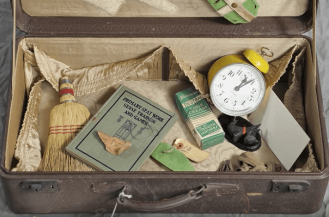 A suitcase left behind by a patient at the Willard Asylum