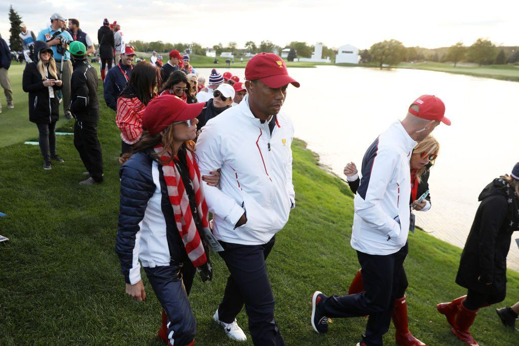 Erica Herman and Tiger Woods at the Presidents Cup