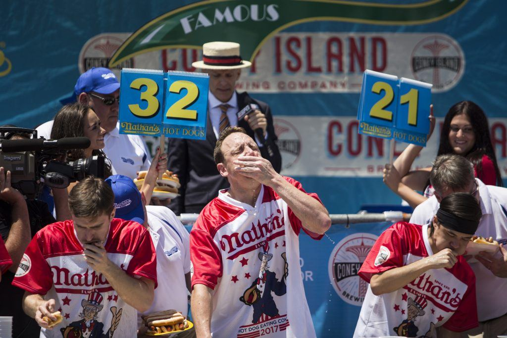 Annual Coney Island Hot Dog Eating Contest Held On July 4th
