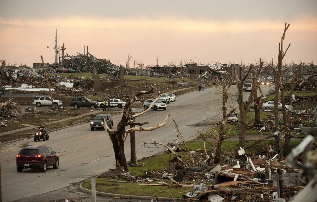 Tornado damage in Joplin, Missouri.