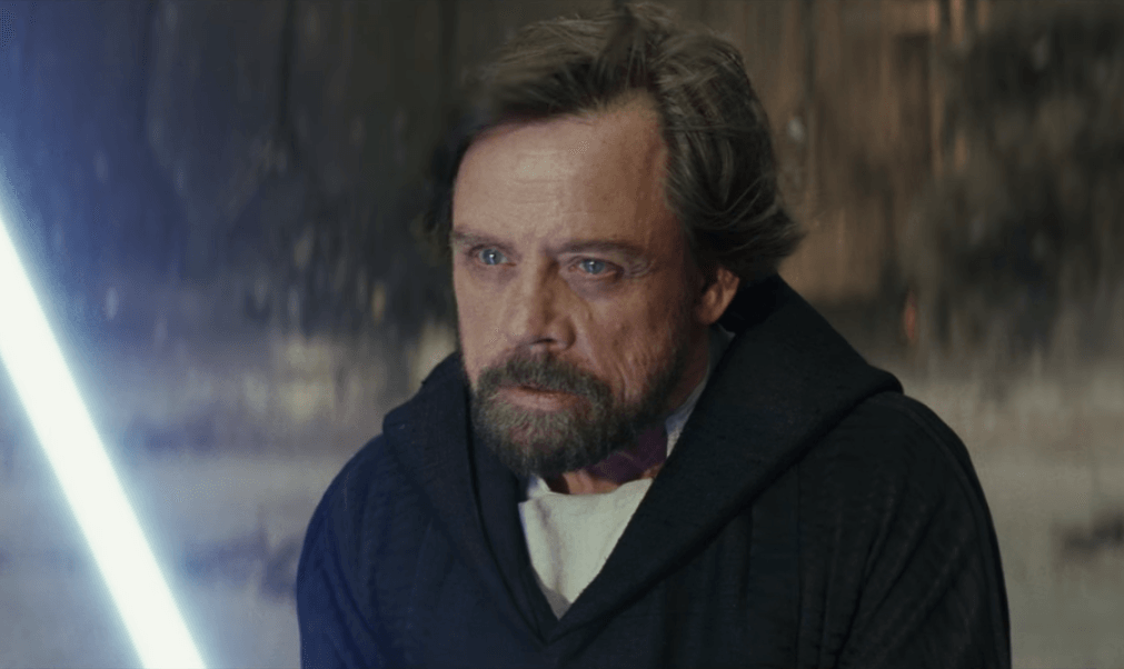 Luke Skywalker in The Last Jedi