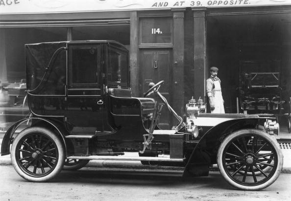 1905: An 18-horsepower Mercedes with Worley Spring Wheels.
