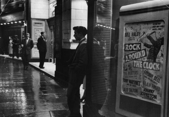 'Rock Around The Clock', billboard outside a cinema in London