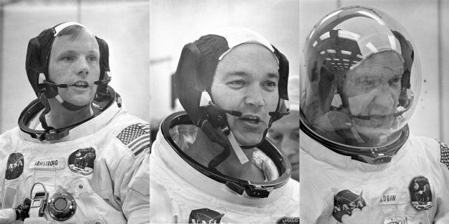 Apollo 11 astronauts complete final check of their communication systems