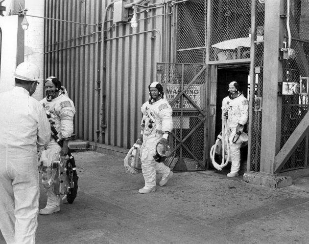 Apollo 11 crew after the countdown demonstration test