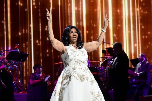 """Aretha Franklin performs onstage during the """"Clive Davis: The Soundtrack of Our Lives"""" Premiere Concert during the 2017 Tribeca Film Festival at Radio City Music Hall on April 19, 2017 in New York City"""