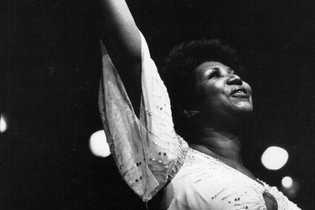 November 1980: American singer Aretha Franklin, the 'first lady of soul', in performance