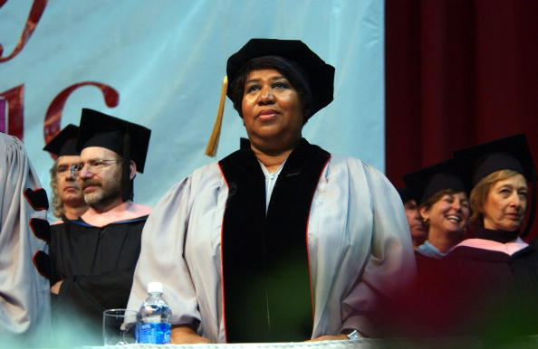 Aretha Franklin appears at Berklee College of Music commencement May 13, 2006