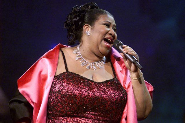 Aretha Franklin performing on the 'VH1 Divas Live: The One and Only Aretha Franklin' at Radio City Music Hal in 2001