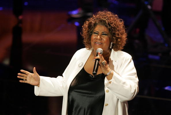 Aretha Franklin performs onstage at the 10th Annual Soul Train Lady of Soul Awards In 2005