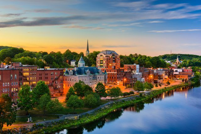 Augusta, Maine on the Kennebec River