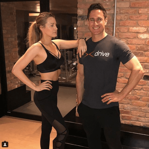 Blake Lively with her personal trainer