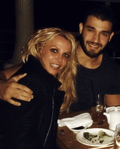Britney Spears and boyfriend Sam Asghari on New Year's Day