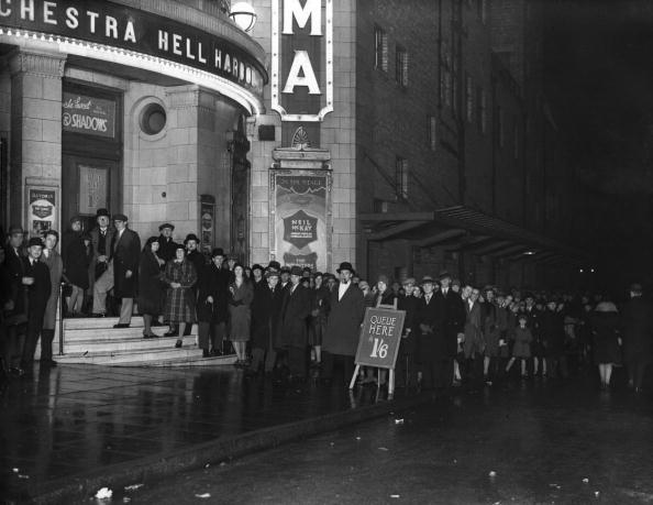 December 1930: A queue outside the Brixton Astoria, south London