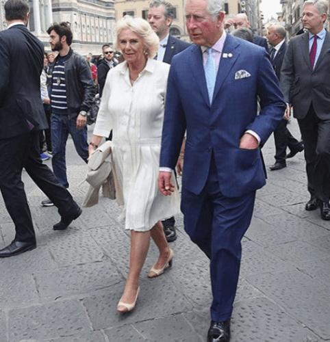 Duchess Camilla Parker Bowles and Prince Charles in Florence