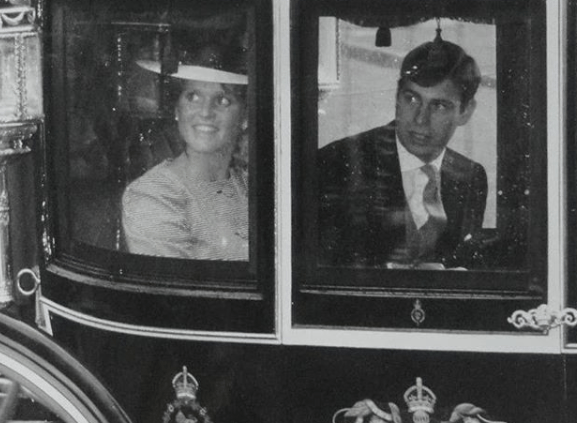 Duchess of York and Prince Andrew in carriage