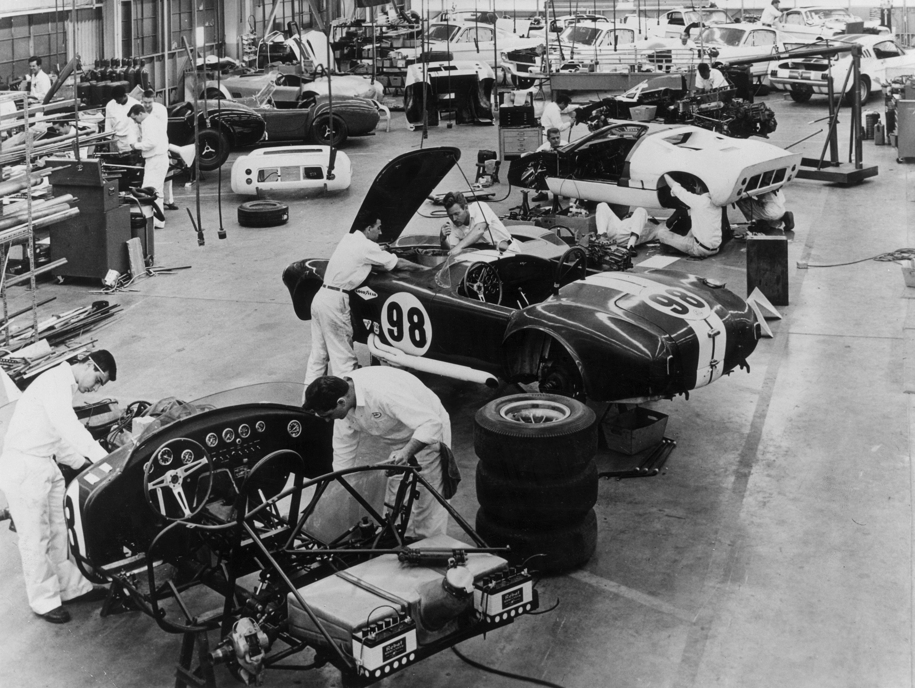 Shelby design works on a 1965 Ford Mustang