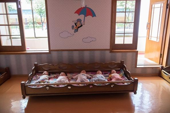 Babies in North Korea
