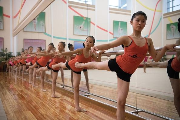 Young ballerinas in North Korea