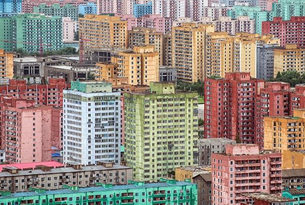 apartment blocks in North Korea