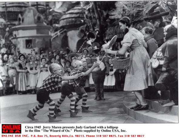 Lollipop guild Judy Garland Wizard of Oz