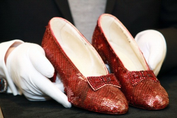 The Wizard of Oz ruby slippers