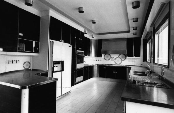 1970s kitchen with microwave