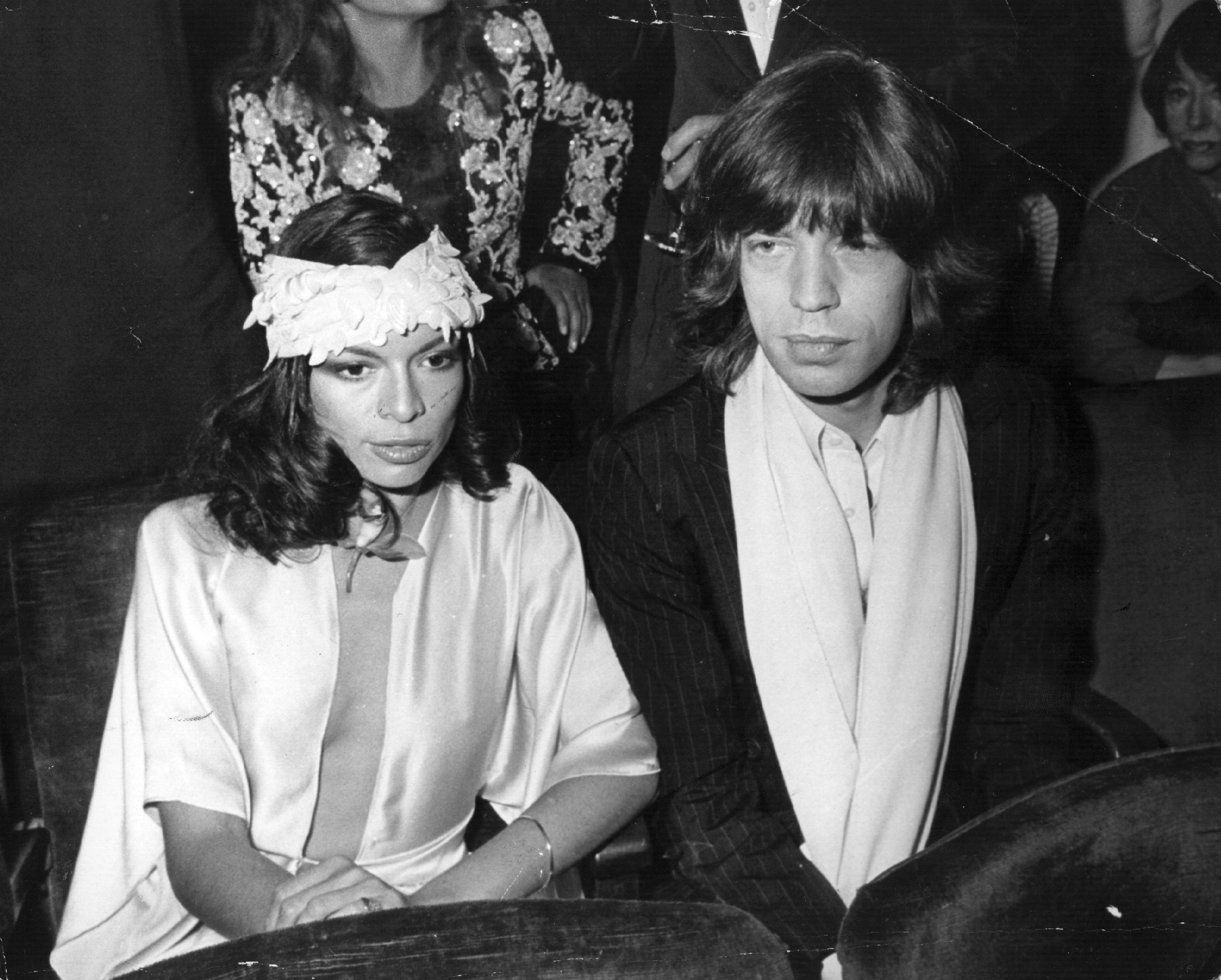 Mick Jagger and Bianca Jagger in 1975