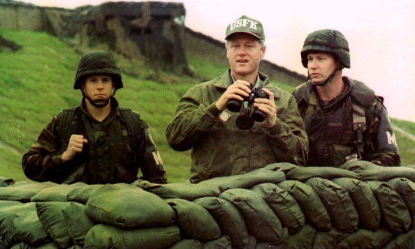 President Clinton looks at North Korea