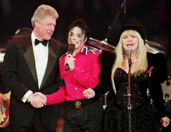 Bill Clinton with Michael Jackson