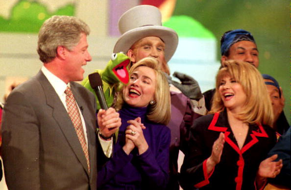 Bill Clinton with Kermit the Frog