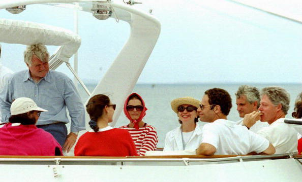Bill Clinton with the Kennedys