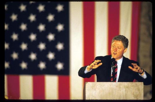 Governor Bill Clinton campaigning