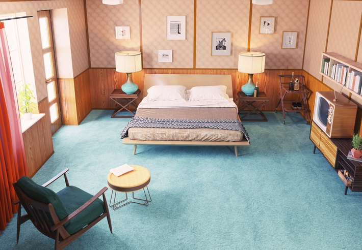 1950 bedroom