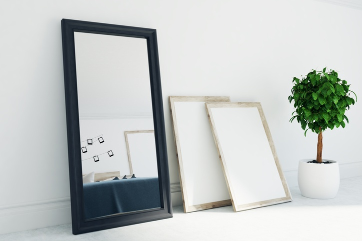 Mirror in living room