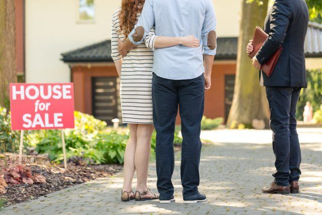 real estate buying couple