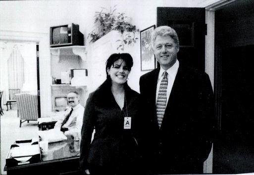 Monica Lewinsky meeting Bill Clinton