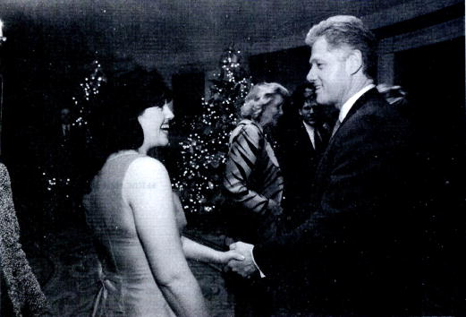 Monica Lewinsky meets with President Clinton