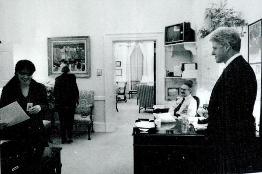 Monica Lewinsky and President Clinton
