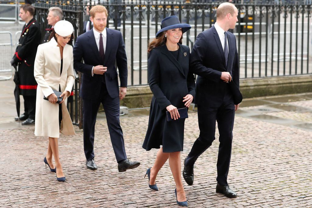 Meghan Markle, Prince Harry, Kate Middleton, and Prince William