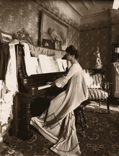 1920 living room piano