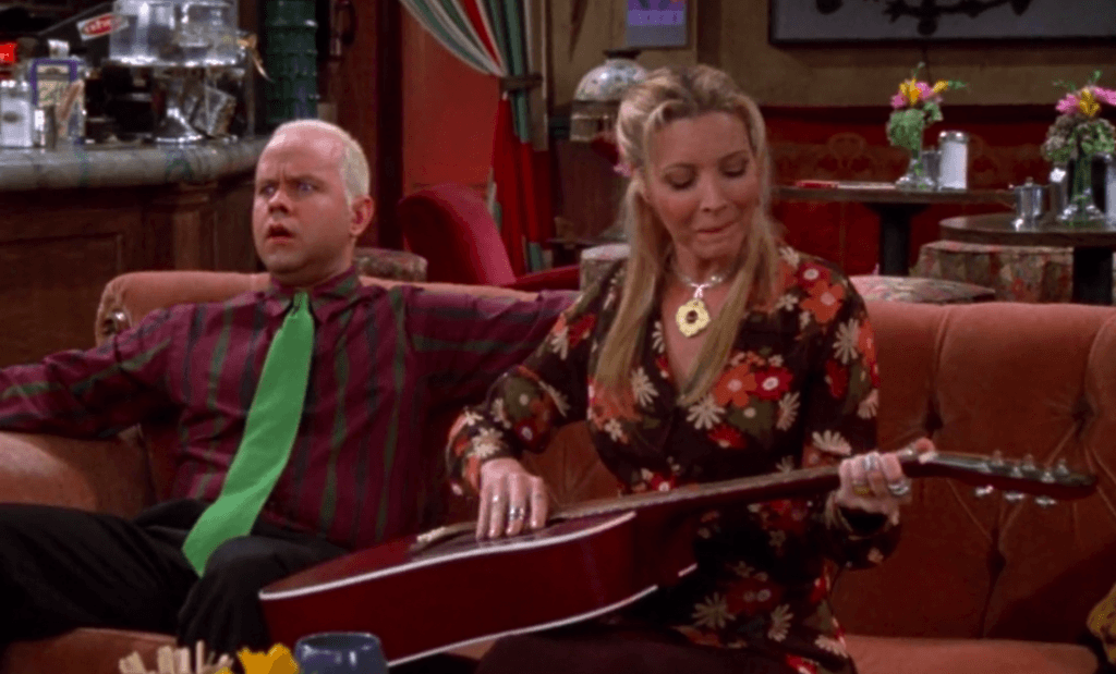 Gunther and Phoebe Buffay on Friends