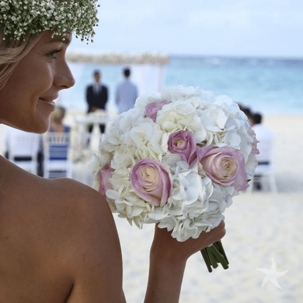 A bride getting married at Iberostar