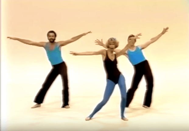 Judi Sheppard Missett and her jazz moves